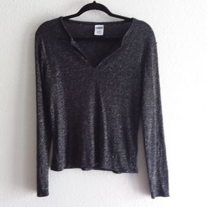 Old navy black sparkly long sleeve top size large